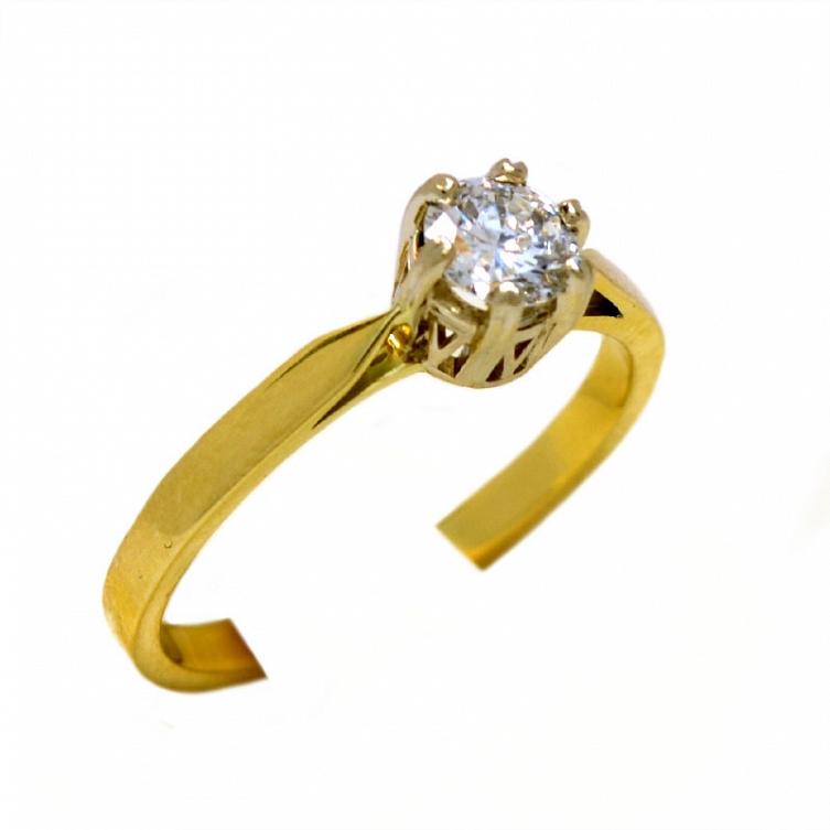 Pierścionek Zaręczynowy Z Brylantem 034 Ct