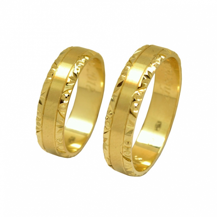 8ec29334d8f941 Obrączki ślubne z żółtego złota wykonane w próbie 0,585.